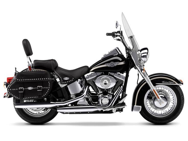 Harley Davidson Heritage Softail Classic Black View
