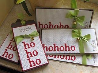 Weihnachtskarte Hohoho - ... auch eine schöne Idee für Weihnachtskarten. Chic.
