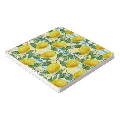 #girly - #Cute Hip Tropical Summer Lemon Fruit Pattern Trivet