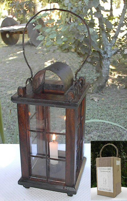 Wooden candle lantern buy product