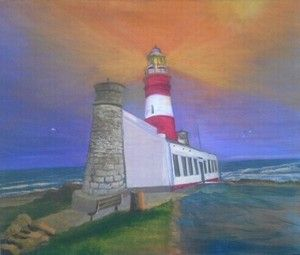 """Agulhas Lighthouse no 1"" by Johannes Swanepoel Copyright (c) 2013 VDMFK"
