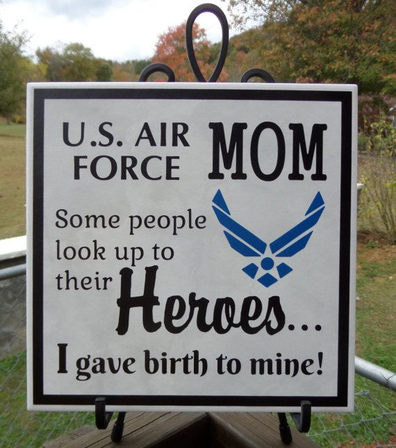 AIR FORCE Mom Pride - Hero Plaque - Airman Son - Airman Daughter - Air Force - Soldier - Enlisted - USAF - Proudly Serving in the Air Force #bestofEtsy #etsyretwt