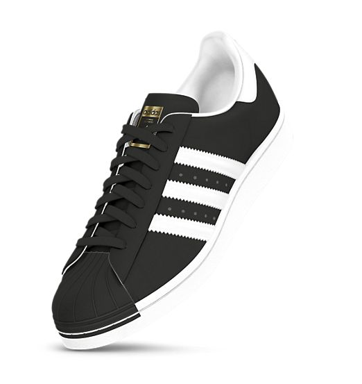 Size Black Adidas--I custom made these so if they don't look like the  picture let me know