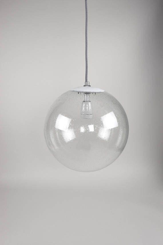 Vintage Kugellampe Bega Glaskugel Hangelampe Bauhaus Lampe