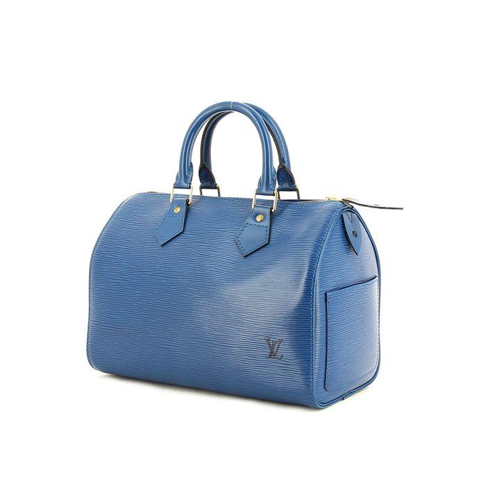 Louis Vuitton Speedy 30 en cuir épi bleu