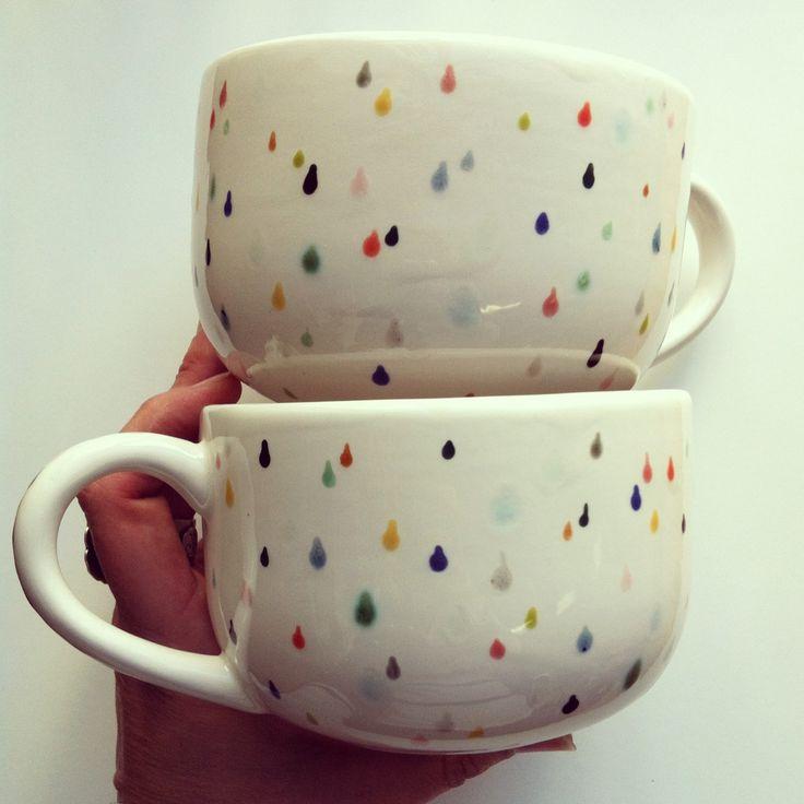 Rain Drop Latte Mug Set