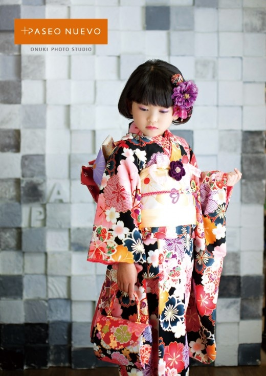 So cute! Kimono girl. Japan.