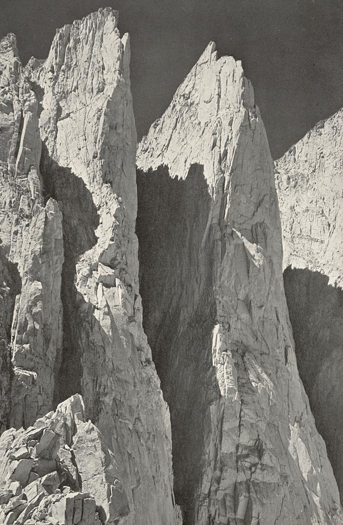 Ansel Adams - Whitney Pinnacles (East Face), Kern River Sierra (1930's)