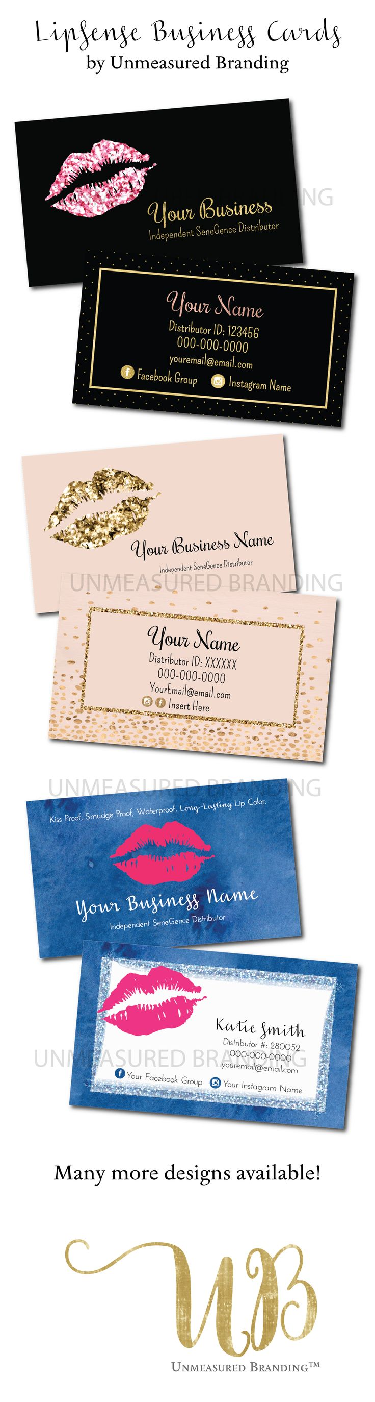 LipSense Business Cards, SeneGence Business Cards, LipSense Printables, Digital Downloads #LipSense #LipBoss #SeneGence