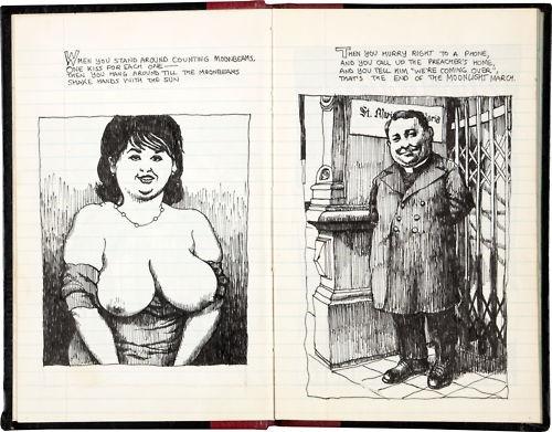 robert crumb original art sketchbook c 1964 the moonlight march