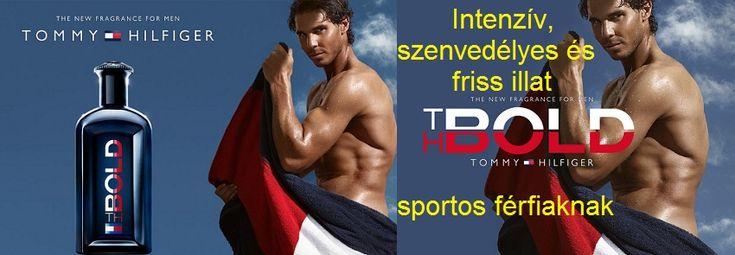 Tommy Hilfiger TH Bold férfi parfüm  Intenzív, szenvedélyes és friss illat sportos férfiaknak Tommy Hilfiger 2015 augusztusában adta ki TH Bold illatát. Az új férfiaknak készült illat erőteljes, friss és sportos.  Olyan modern férfiak számára készült, akik szenvedélyesek és bátrak. A TH Bold illat elkötelezett és kitartó játékosoknak szól, akik nyerni akarnak, a parfüm reklámarca: Rafael Nadal teniszező.  Az illat pomelo, mandarin, vörös grapefruit és bergamott citrusos keverékével nyit…
