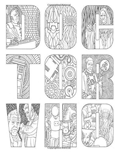 Doctor Who Coloring Book For Adult Niftywarehouse NiftyWarehouse DoctorWho DrWho