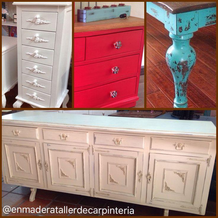 Muebles fabricados y restaurados en mi taller