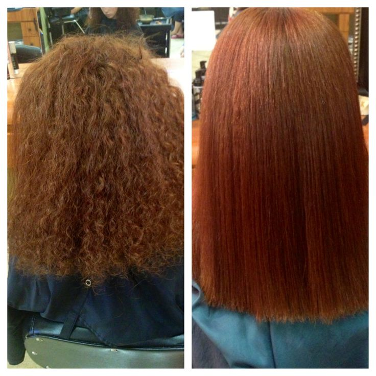 Before and after chi permanent straightening