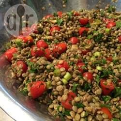 Salada de lentilha ao vinagre balsâmico @ allrecipes.com.br