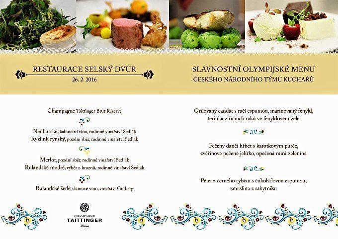 Olympijské kuchařské menu do Erfurtu 2016