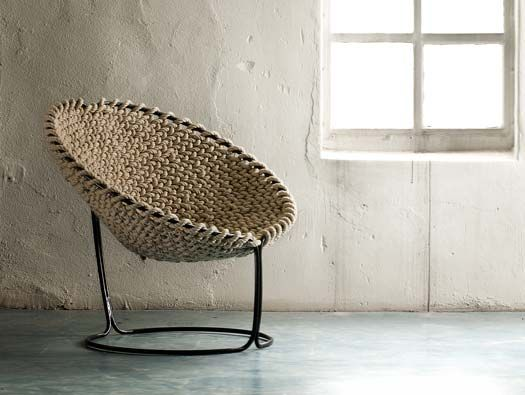 FEMME CHAIR BY RIK TEN VELDEN  a chair made of a single knotted rope.