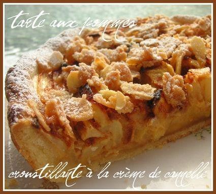 Tarte aux pommes croustillante à la crème de cannelle                                                                                                                                                                                 Plus