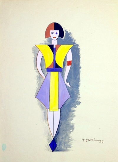Tullio Crali – Sketch for a stage costume (1933)