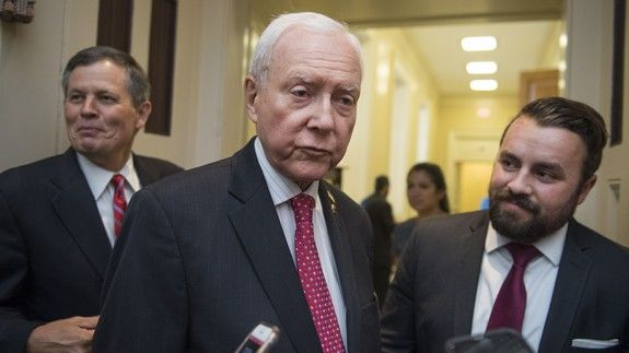 Orrin Hatch loves a weed pun apparently