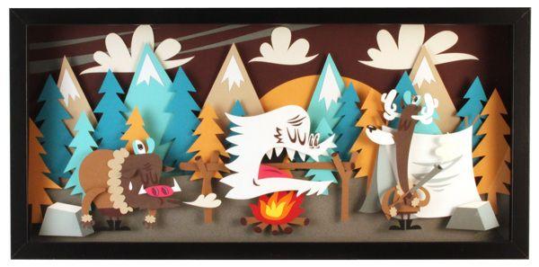 Hunter  - Paperframe by Tougui 1, via Behance