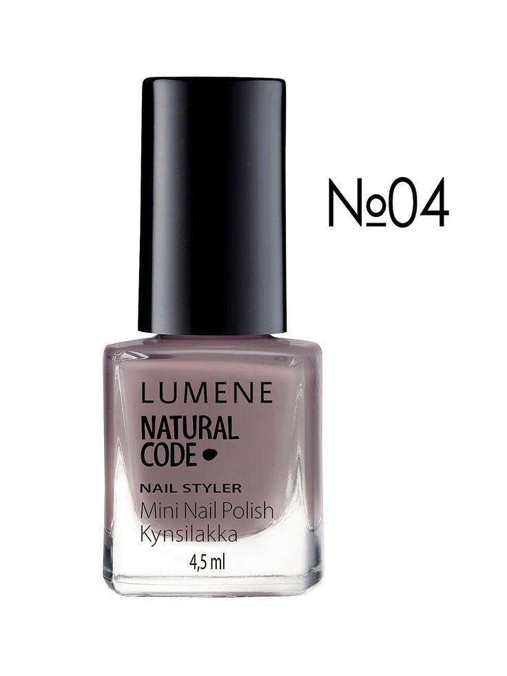 Лак для ногтей NC Nail Styler № 04 - серо-коричневый (4,5 мл) - Lumene, акция действует до 8 декабря 2014 года   LeBoutique - Коллекция брендовых вещей от Lumene
