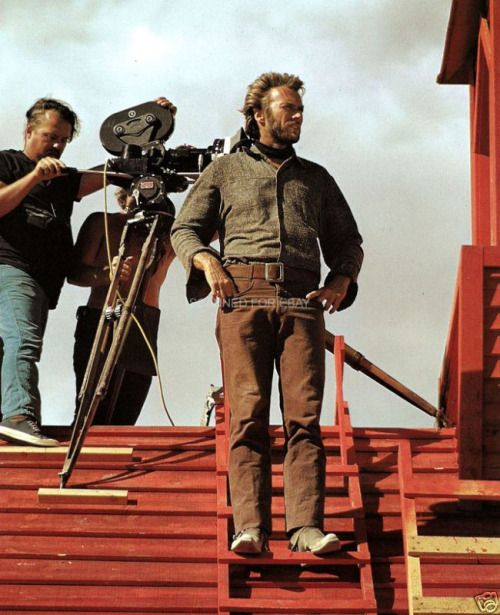 Clint Eastwood on the set of 'High Plains Drifter', 1973 ...