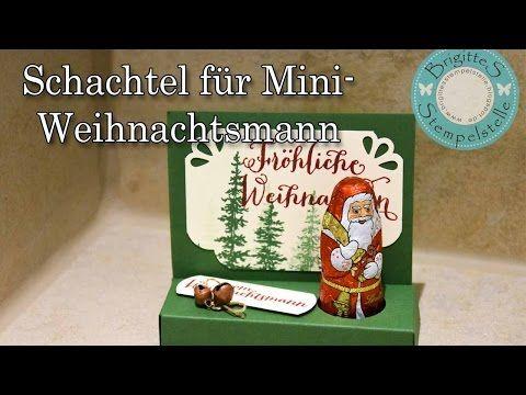 Schachtel für Lindt Mini Weihnachtsmann - YouTube