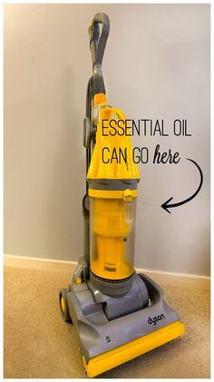 20 Ways to Use Essential Oils in Your Home | Did you know you can freshen your home while vacuuming with essential oils?