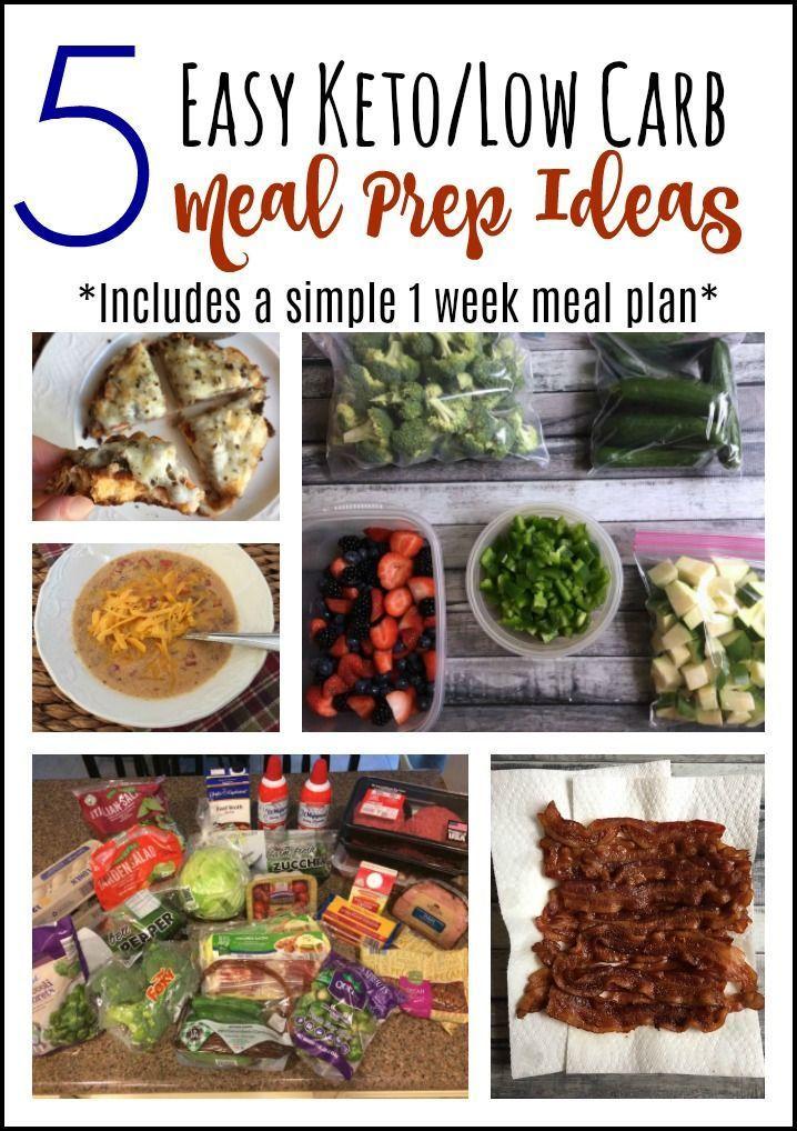 5 Easy Keto Low Carb Meal Prep Ideas Plus A 1 Week Meal Plan Keto Ketogenic Lchf Lowcarb Ketorecipes Low Keto Meal Plan Keto Meal Prep Low Carb Meal Prep