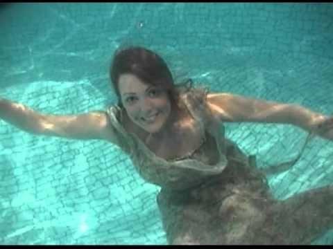 Emmy Peasant Dress  wetlook  underwater  wetlook