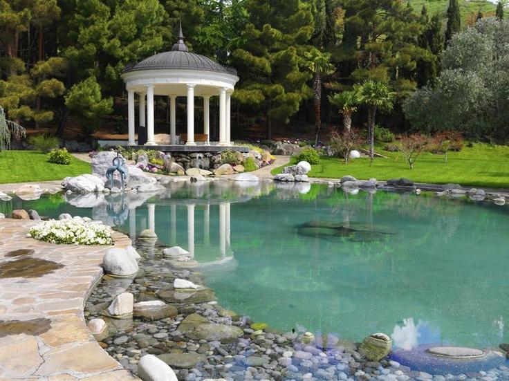 A beautiful water garden paradise gazebos pinterest for Giardini ornamentali