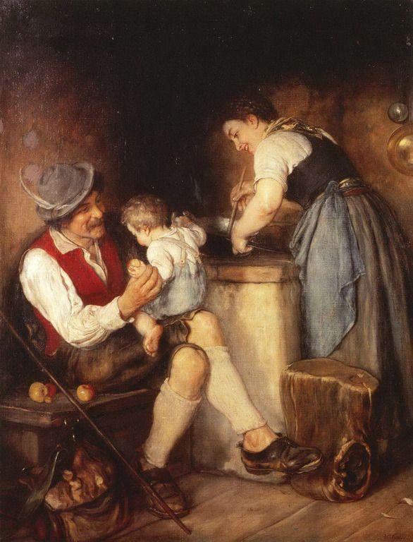 .:. Γύζης Νικόλαος – Gyzis Nikolaos [1842-1901]  Η χαρά των γονέων