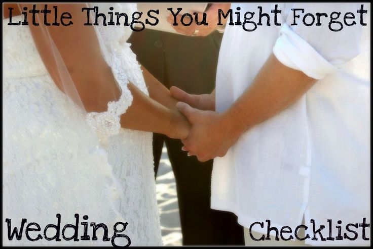 Wedding Check List - Big Small Things You Might Forget When Planning