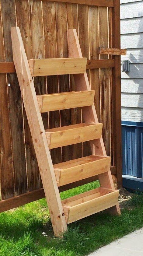 Ana White | Build a Cedar Vertical Tiered Ladder Garden Planter | Free and Easy DIY Project and Furniture Plans