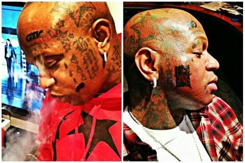 Birdman's new face tattoo | Gossip-Grind.com | Pinterest ...