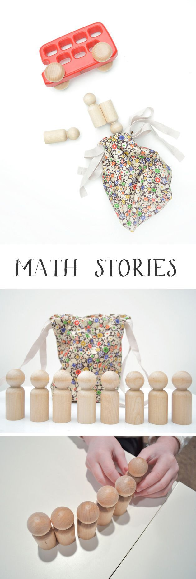 Math stories are a playful way to explore mathematical concepts with your kids. Like a spoken word problem! Kids love counting and answering questions, and this activity helps with their listening skills too.