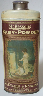 baby powder tin