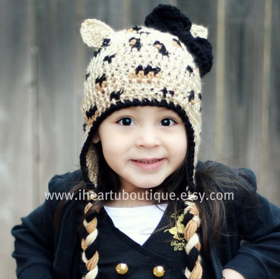 There is no other crochet hat like this one!! this is my original design.  Leopard hat by iheartuboutique on Etsy, $25.00 Leopard hat by iheartuboutique on Etsy, $25.00