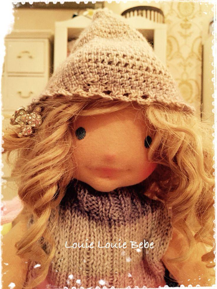 Margarita A Louie Louie Bebe needle sculptured Waldorf style doll #waldorf #doll #art doll
