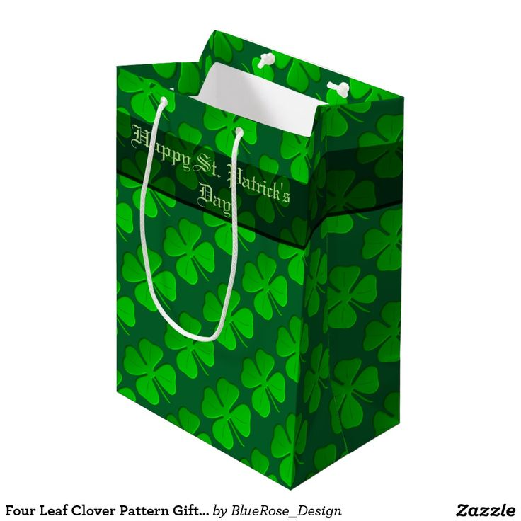 Four Leaf Clover Pattern  Medium Gift Bag