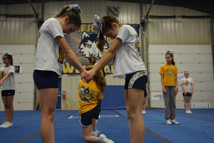 Junior 1 #Gravity running their routine at practice.