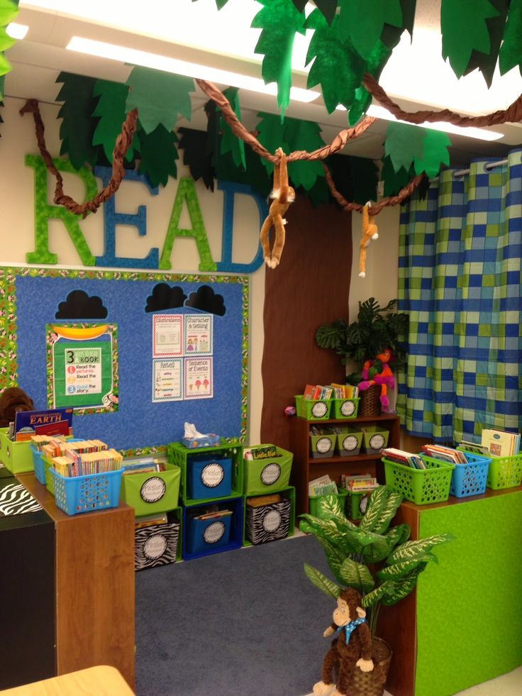 Zebra Classroom Decor ~ Jungle themed classroom library … theme pinte…