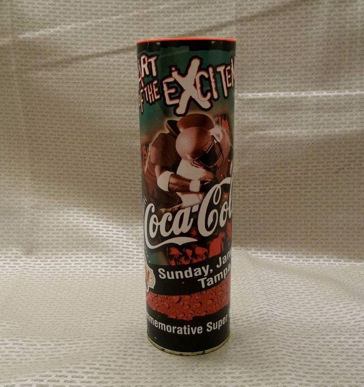 2001 Super Bowl XXXV Tampa FL Commemorative Coca-Cola Bottle w/ Tube NFL Coke