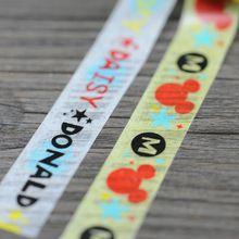 Nova 1x Daisy Donald mickey Mouse dos desenhos animados estampados adesiva Washi japonês Tape10M Scrapbooking papel da etiqueta da cor amarelo branco(China (Mainland))