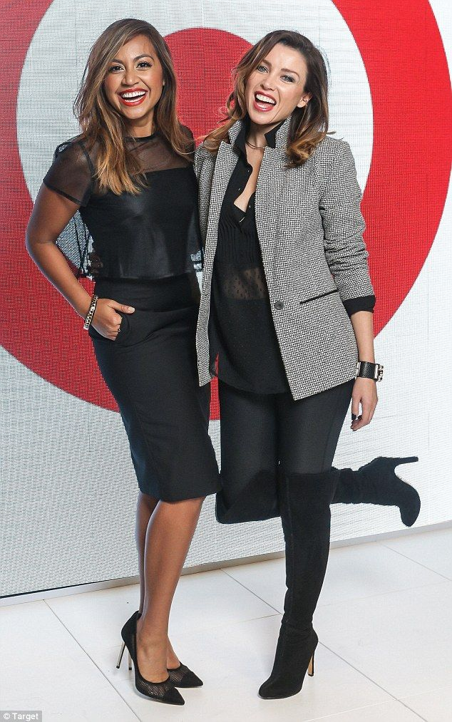 Dannii Minogue and Jessica Mauboy hit Melbourne Fashion Festival #dailymail