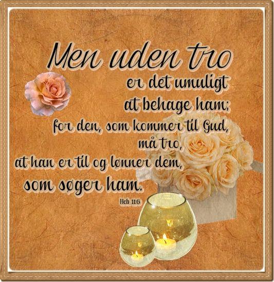 Heb 11:6 Dansk