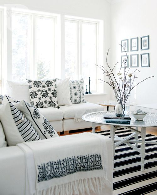 scandinavian style for the living room (via Style At Home)