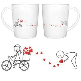 """BoldLoft """"All My Love for You"""" Couple Coffee Mugs-Romantic Valentine's Day Gifts for Couples,Cute Valentines Gifts for Him or Her,Romantic Anniversary Gifts:Amazon:Kitchen & Dining"""