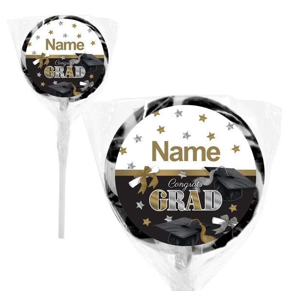 "Check out Festive Graduation Personalized 2"" Lollipops (20 Pack) 